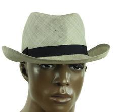 $375 New Mens Bates Gentlemen's Hatter Silver Fedora Hat 59 /  L / 7 3/8