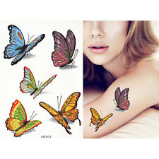 Glitter Butterfly Kids Child Temporary Body Art  Sea Kids Fake Tattoo Stickers