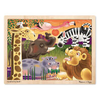 Melissa and Doug African Plains Wooden Jigsaw Puzzle - 24 Pieces - 12937 - NEW!