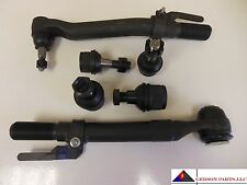 2 Lower 2 Upper Ball Joints 2 Outer Tie Rod Ends Ford Super Duty (4WD)