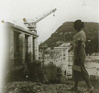Barrage Donna snapshot Foto Stereo PL32P1n Placca Da Lente Vintage
