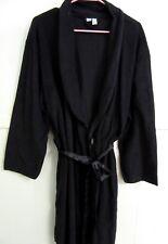 GIFT or LOVELY WEAR! New & Cozy Warm CHIC XL Black Robe w. Satin Tie