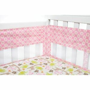 Pink Bumper Pad - Carter's Jungle Collection Secure Me Crib Liner