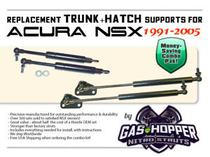 HATCH + TRUNK SUPPORTS FOR HONDA/ACURA NSX - SET OF 4, GAS STRUTS, SHOCKS