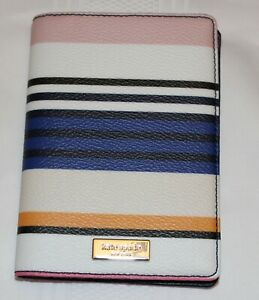 NWT Kate Spade New York Shore Street Berber Stripe Passport Case Holder Wallet