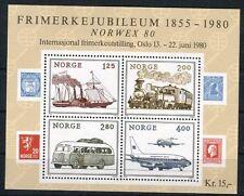Norvegia/Norway 1980 Bf 4 Esposizione filatelica Norvex 80 Mnh