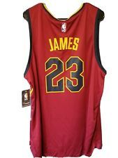 NWT Fanatics FastBreak Cleveland Cavs NBA LeBron James #23 Red Away Jersey Large