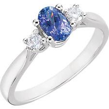 Neues AngebotTansanit & 1/6 Karat Diamant Ring IN 14K Weiss Gold