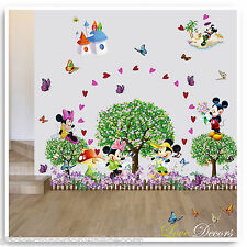 Mickey & Minnie Mouse Wall Stickers Animal Jungle Nursery Baby Girl Bedroom Art