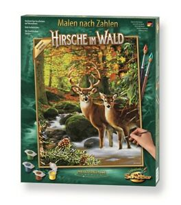 Schipper 609130810 - Malen nach Zahlen - Hirsche im Wald