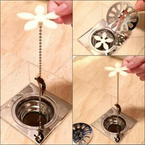 x10 Kitchen Bathroom Shower Drain Wig Chain Cleaner Hair Clog Remover Tool