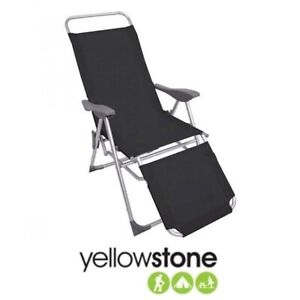 2 x Yellowstone vector 5 position Reclining chair New - Black Pair of two