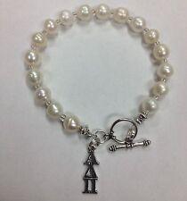 Alpha Delta Pi Sorority Greek Freshwater Pearl Bracelet, FREE SHIPPING ADPi gift