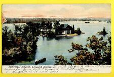 cpa Cachet KINGSTON 1906 CANADA Les 1000 Îles FLEUVE St LAURENT Thousand Islands