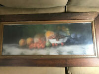 "O Arnold 1914 ""Still Life With Fruits Scene"" Pastel Painting - Signed/Framed"