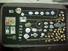 Lot of vintage metal charm catholic medals pendant ETC LQQK