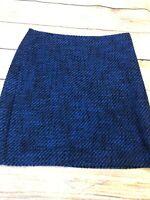 Ann Taylor Loft Petite Blue Tweed Pencil Skirt Size 4P