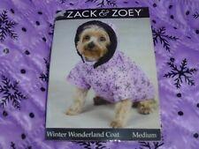 DOG/Pet  WINTER WONDERLAND COAT  by Zack & Zoey  size Medium  NWT  purple