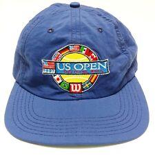 905f768753b1a 1990s USA Open Tennis Wilson Nylon Strapback Hat Flag BIG LOGO Sport  Athletic