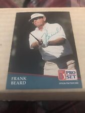 1991 Frank Beard Signed Pro Set Card #227