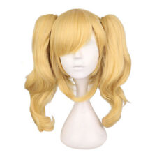 Fashion Batman Harley Quinn Ponytail Golden Blonde Curly Hair Cosplay Party Wig