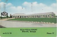 Ellaville, GA - Ella-Villa Court - Exterior and Grounds - Signage - 1954