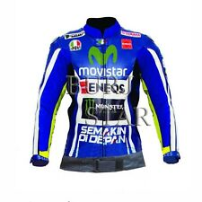 Valentino Rossi Motorbike Racing Leather Jacket