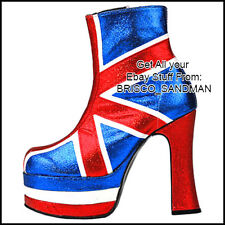 Fridge Fun Refrigerator Magnet UNION JACK SPICE GIRLS SHOE (ENGLAND BRITAIN)