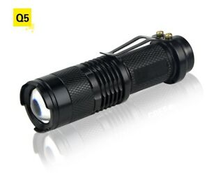 Outdoor Portable Flashlight LED Camping Light Aluminum Zoomable Lanterne