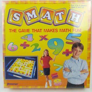 SMATH The Game That Makes Math Fun! Board Game By Pressman