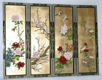 Oriental Chinese gold leaves with lacquer wall plaques wall picture gifts