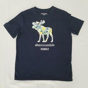 Abercrombie Kids Boys Shirt 7-8 Short Sleeve Hawaii Moose Tee