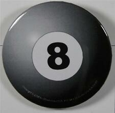 #08049 Pinback Button Eight Ball Pool
