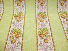 Verde ¿te Apetece Floral Barroco De Rayas Estampado 100% Algodón Tela De Cortina