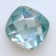 Blue Cushion Rose Cut Loose Moissanite For Ring 0.84 Ct 6.23 x 5.90 Mm Vvs1 Ice