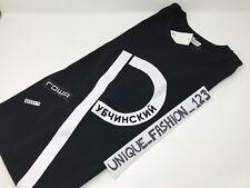 GOSHA RUBCHINSKIY 1984 BIG P XL FLAG BOX LOGO XLARGE T-SHIRT TEE BLACK SS17
