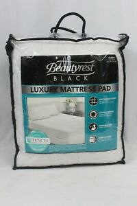 """NEW Beautyrest Black Luxury bed Mattress Pad  Queen 60"""" x 80"""" 400 thread TENCEL"""