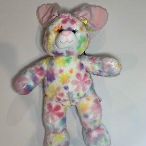 "Build-A-Bear Easter Bunny Rainbow Colorful Pastel Tie-Dye Rabbit 19"" SOFT PLUSH"