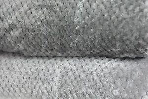 Grey / Silver Throws Fleece Mink Sofa / Bed Honeycombe Waffle throw / blanket