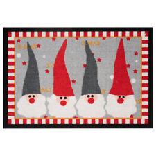 Tapis de pied paillasson WEIHNACHTSWICHTEL Noël rouge gris 40x60 cm