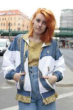 Madison Sportswear Damen Jacke Jacket weiß blau gold True VINTAGE Windjacke