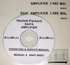 HP 8447A AMPLIFIER  Operating  & Service Manual