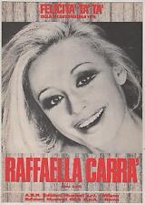RAFFAELLA CARRA' felicità tà tà 1974 spartito sheet music sigla canzonissima '74