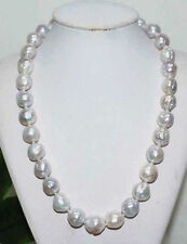 12-13 MM SOUTH SEA NATURAL WHITE PEARL NECKLACE 14K 22INCH