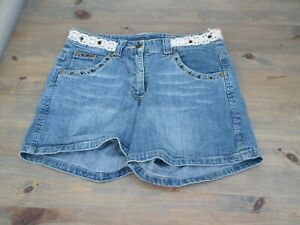 Blue denim shorts by More & More, size small (also given as 164) post free UK