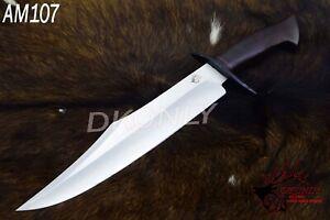 "18"" Unique Design Custom Handmade D2 Steel Bowie Knife  Rosewood Handel (DKONLY)"