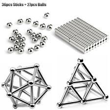63pcs Magnetic Building Balls&Sticks Educational Construction Children Toys New