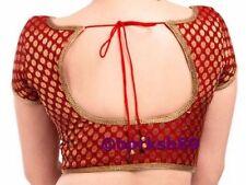 Readymade Saree Blouse, Designer Sari Blouse, Red Banarasi Brocade Silk Blouse