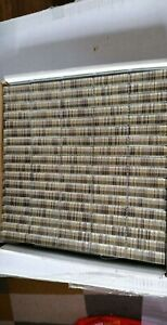 MOSAIC tile translucent brick glass crystal brown with gold lined effect