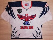Game worn hockey jersey Sokol Krasnoyarsk RUSSIA 2019 play off match used